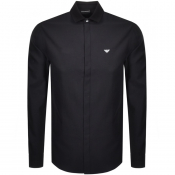 Emporio Armani Long Sleeved Contrast Shirt Black